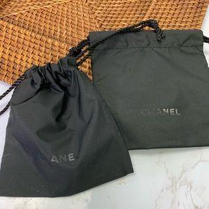 Chanel set of 2 mini jewelry dust storage bags